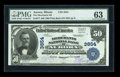 National Bank Notes:Illinois, Aurora, IL - $50 1902 Plain Back Fr. 677 The Merchants NB Ch. # 3854. ...