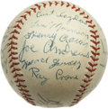 Autographs:Baseballs, 1953 Jacksonville Tars Team Signed Baseball with Hank Aaron. Signed before he notched home run number one at the major leag...
