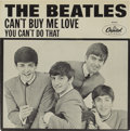"Music Memorabilia:Recordings, Beatles ""Can't Buy Me Love"" 45 w/Picture Sleeve (Capitol 5150,1964). An unbelievably pristine copy of the second and rarest...(Total: 1 Item)"