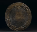 African: , Yoruba (Nigeria). Tray for Ifa Divination, opon ifa. Wood, patination. Height: 16 5/8 inches Width: 15 ½ inches Depth:...