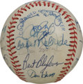 Autographs:Baseballs, 1983 Cleveland Indians Team Signed Baseball. A total of 21signatures from the 1983 Cleveland Indians appear on the offered...