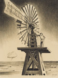 Prints:American, PETER HURD (American 1904-1984). The Windmill Crew.Lithograph. 16-1/2 x 12-1/4 inches (41.91 x 31.15 cm). Ed. 30/40.Si...