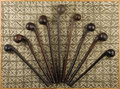 African: , Maasai (?) (Kenya). Nine Knobkerries. Wood, some traces of pigment(indigenous?). Lengths range from 19 ¾ to 27 inches, wit... (Total:9 Items)