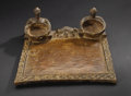 African: , Yoruba (Nigeria). Tray for Ifa Divination. Wood, traces of pigment. Height: 4 5/8 inches Width: 13 ¾ inches Depth: 12 ¼ in...