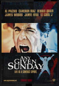 """Any Given Sunday (Warner Brothers, 1999). One Sheet (27"""" X 40"""") DS Advance. Sports"""