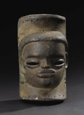 African: , Anang Ibibio (Nigeria), Ikot Ekpene. Mask. Wood, traces of pigment. Height: 9 3/4 inches Width: 5 ½ inches Depth: 4 ¾ inch...