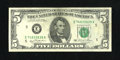 Error Notes:Ink Smears, Fr. 1976-E $5 1981 Federal Reserve Note. About Uncirculated.. Anapproximate three-fourths inch green ink smear is found on ...