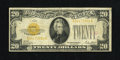 Small Size:Gold Certificates, Fr. 2402 $20 1928 Gold Certificate. Fine.. Nice edges for the grade are found on this $20 Gold. A little bit of red color is...