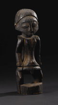 African: , Shaba (?) (Democratic Republic of Congo). Male Figure. Wood,patination. Height: 12 ½ inches Width: 4 inches Depth: 4 inch...