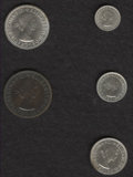 Australia: , Australia: Elizabeth II Proof Set 1958 Melbourne, KM-PS20, deeplytoned Penny and brilliant silver types.... (Total: 5 Coins Item)