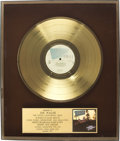 Music Memorabilia:Awards, Joe Walsh Hotel California Hong Kong Gold Album Award(1976). Presented to Joe Walsh to commemorate the sale of ...(Total: 1 Item)