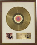 Music Memorabilia:Awards, Joe Walsh So What RIAA Gold Album Award (1975). Presented toJoe Walsh to commemorate the sale of more than $1 m... (Total: 1Item)
