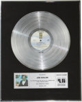 Music Memorabilia:Awards, Joe Walsh But Seriously, Folks... CRIA Platinum Album Award(1978). Presented to Joe Walsh by the Canadian Recor... (Total: 1Item)