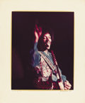 "Music Memorabilia:Photos, Jimi Hendrix Color Photo by Jim Marshall. A color 14.5"" x 18"" photoof Jimi Hendrix by legendary Rock and Roll photographer ... (Total:1 Item)"