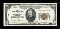 Fr. 1870-I* $20 1929 Federal Reserve Bank Note. Extremely Fine-About Uncirculated