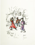 Music Memorabilia:Original Art, Jerry Garcia Flamenco Dancer Signed Lithograph. Beforeturning full-time to music, Jerry Garcia studied art at t...(Total: 1 Item)