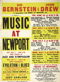 "Music Memorabilia:Posters, Music at Newport 1961 Poster. Included is a rare 18"" x 24"" promoposter from the 1961 Music at Newport fest (not to be confu...(Total: 1 Item)"