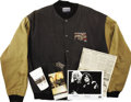 Music Memorabilia:Memorabilia, Jimmy Page/Robert Plant of Led Zeppelin - Tour Jacket, Cup, andPhoto. A black cotton tour jacket from the Page/Plant 1995 N...(Total: 1 Item)