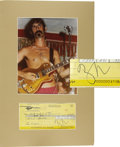 Music Memorabilia:Autographs and Signed Items, Frank Zappa Signed Check. A check for $37.28 dated November 1,1973, signed by the Mothers of Invention frontman and Rock ge...(Total: 1 Item)