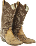 "Music Memorabilia:Costumes, Village People Cowboy Boots Signed and Worn by ""Cowboy"" Randy Jones. A pair of well-worn boots, owned by the Village People'... (Total: 1 Item)"