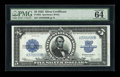 Large Size:Silver Certificates, Fr. 282 $5 1923 Silver Certificate PMG Choice Uncirculated 64 EPQ....