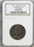 Colonials: , 1787 COPPER Connecticut Copper, AUCTOPI XF40 NGC. PCGS Population(0/2). (#376)...