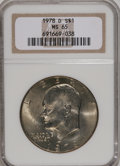 Eisenhower Dollars: , 1978-D $1 MS65 NGC. NGC Census: (2098/170). PCGS Population (683/240). Mintage: 33,012,890. Numismedia Wsl. Price for NGC/P...