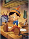 Original Comic Art:Miscellaneous, Pinocchio Exclusive Commemorative Lithograph (The Disney Store,1993)....