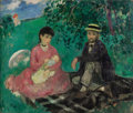 Paintings, FRANÇOIS GALL (French, 1912-1945). Luncheon in the Park. Oil on canvas. 21-1/2 x 25-3/4 inches (54.6 x 65.4 cm). Signed ...
