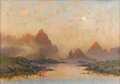 Fine Art - Painting, European:Antique  (Pre 1900), FRITHJOF SMITH-HALD (Norwegian, 1846-1903). Lofoten. Oil oncanvas. 18-1/8 x 25-5/8 inches (46.0 x 65.0 cm). Signed and ...