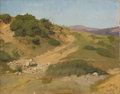 Fine Art - Painting, American:Antique  (Pre 1900), ELIHU VEDDER (American, 1836-1923). Sand Dunes, July 1867.Oil on artist's board laid on board. 11-3/4 x 15-1/4 inches (...
