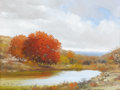 Fine Art - Painting, American:Contemporary   (1950 to present), WILLIAM A. SLAUGHTER (American, 1923-2003). Untitled (AutumnLandscape). Oil on canvas. 18 x 24 inches (45.7 x 61.0 cm)...