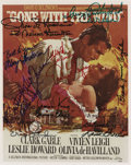 """Movie/TV Memorabilia:Autographs and Signed Items, Gone With the Wind Group Signatures. A great collection often GWTW signatures on a 7"""" x 9"""" color still of the p...(Total: 1 Item)"""