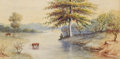 Fine Art - Painting, American:Modern  (1900 1949)  , EMERY A. FILLEAU (American, 1855-1935). Untitled, 1902.Watercolor on paper. 7-1/2 x 15 inches (19.1 x 38.1 cm). Signed ...