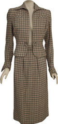Movie/TV Memorabilia:Costumes, Veronica Lake Sainted Sisters Screen-Worn Costume. A black, white, and pink houndstooth skirt and jacket , desig... (Total: 1 Item)