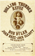 "Music Memorabilia:Posters, Bob Dylan ""Rolling Thunder Revue"" Harvard Square Theater Handbill (1975). The Rock and Roll caravan that was Bob Dylan's Rol... (Total: 1 Item)"