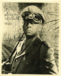 "Movie/TV Memorabilia:Awards, Erich von Stroheim Vintage Signed Photo. A b&w 8"" x 10"" promostill of the actor-director as Erwin Rommel in Five Graves t...(Total: 1 Item)"