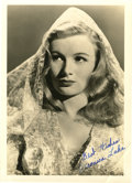 "Movie/TV Memorabilia:Autographs and Signed Items, Veronica Lake Vintage Signed Photo. A b&w 5"" x 7"" promo still of the platinum blonde starlet, inscribed ""Best wishes"" and si... (Total: 1 Item)"
