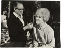 "Movie/TV Memorabilia:Autographs and Signed Items, Kim Novak Photo Signed to Emile LaVigne. A b&w 11"" x 14"" photoof make-up artist LaVigne working with Kim Novak on the set o...(Total: 1 Item)"