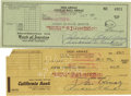 Movie/TV Memorabilia:Autographs and Signed Items, Lucille Ball and Desi Arnaz Signed Checks. Includes a personalcheck dated July 5, 1954, signed by Desi Arnaz in black ink; ...(Total: 1 Item)