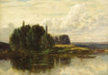 Fine Art - Painting, American:Antique  (Pre 1900), SAMUEL LANCASTER GERRY (American, 1813-1891). The River'sEdge. Oil on canvas. 14 x 20 inches (35.6 x 50.8 cm). ...