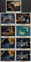 """Movie Posters:Animated, Bambi (Buena Vista, R-1970s). Lobby Cards (9) (11"""" X 14""""). Animated.... (Total: 9 Items)"""