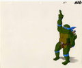 "Animation Art:Production Drawing, ""Teenage Mutant Ninja Turtles"" Leonardo Animation Production CelOriginal Art (Mirage Studios, 1989). ..."