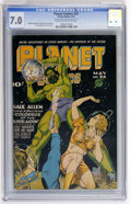 Golden Age (1938-1955):Science Fiction, Planet Comics #36 (Fiction House, 1945) CGC FN/VF 7.0 Cream tooff-white pages....