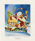 """Original Comic Art:Miscellaneous, Carl Barks - """"Gifts For Shacktown"""", Regular Edition MiniatureLithograph, numbered 14/595 (Another Rainbow, 1991).... (Total: 2Items)"""