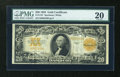 Large Size:Gold Certificates, Fr. 1187 $20 1922 Gold Certificate PMG Very Fine 20....