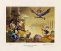 "Original Comic Art:Miscellaneous, Carl Barks - ""Menace Out of the Myths"" Miniature Lithograph Print#14/595 (Another Rainbow, 1994).... (Total: 2 Items)"