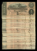 Confederate Notes:1864 Issues, T69 $5 1864 Forty-four Examples.. ... (Total: 44 notes)