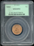 Indian Cents: , 1892 1C, RD