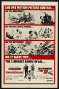 "Movie Posters:James Bond, Thunderball/You Only Live Twice Combo (United Artists, R-1970). One Sheet (27"" X 41""). James Bond...."